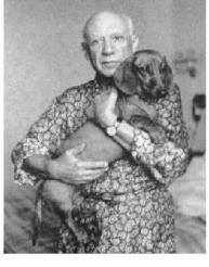 picasso and pet dog
